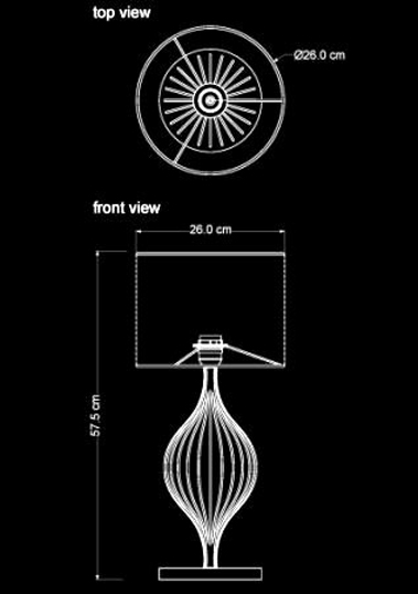 table lamp cosmo technical drawing