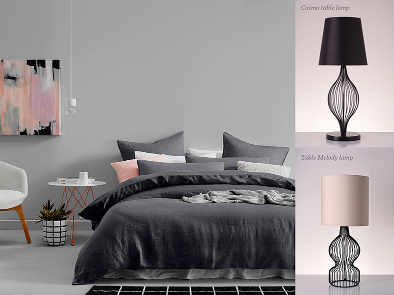 piment rouge blog post modern romantic industrial interior brass and copper bedside table lamps 1