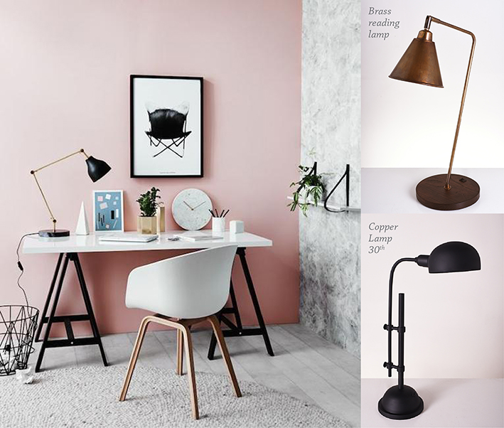 piment rouge blog post modern romantic industrial interior brass and copper desk table lamps 5