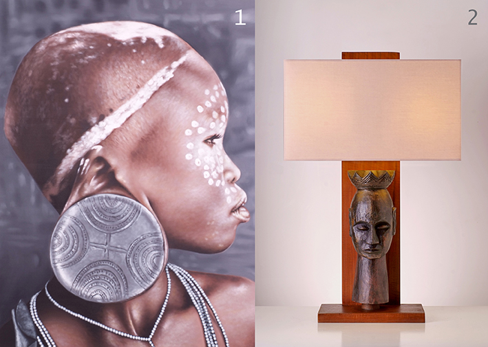 the tribal ethnic style table lamp by piment rouge 2