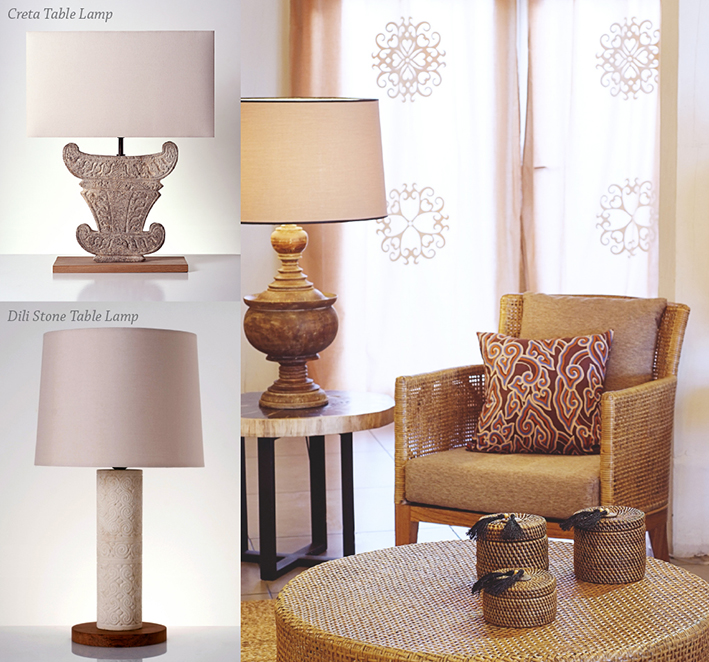 piment rouge blog post rustic chic style living room stone table lamps 1