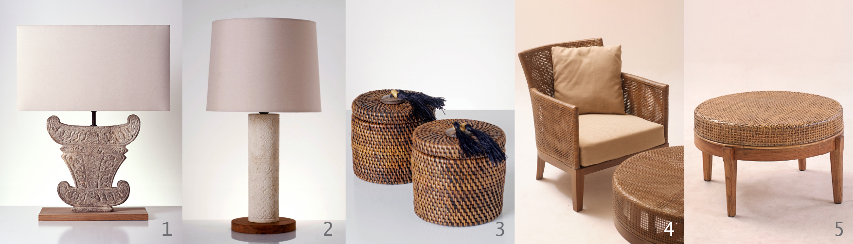 creta table lamp 2 dili stone table lamp 3 copole basket in dark. Black Bedroom Furniture Sets. Home Design Ideas