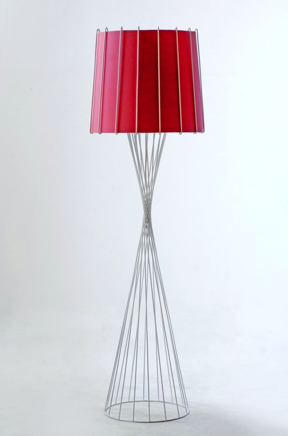 white rialto standing lamp by piment rouge lighting bali