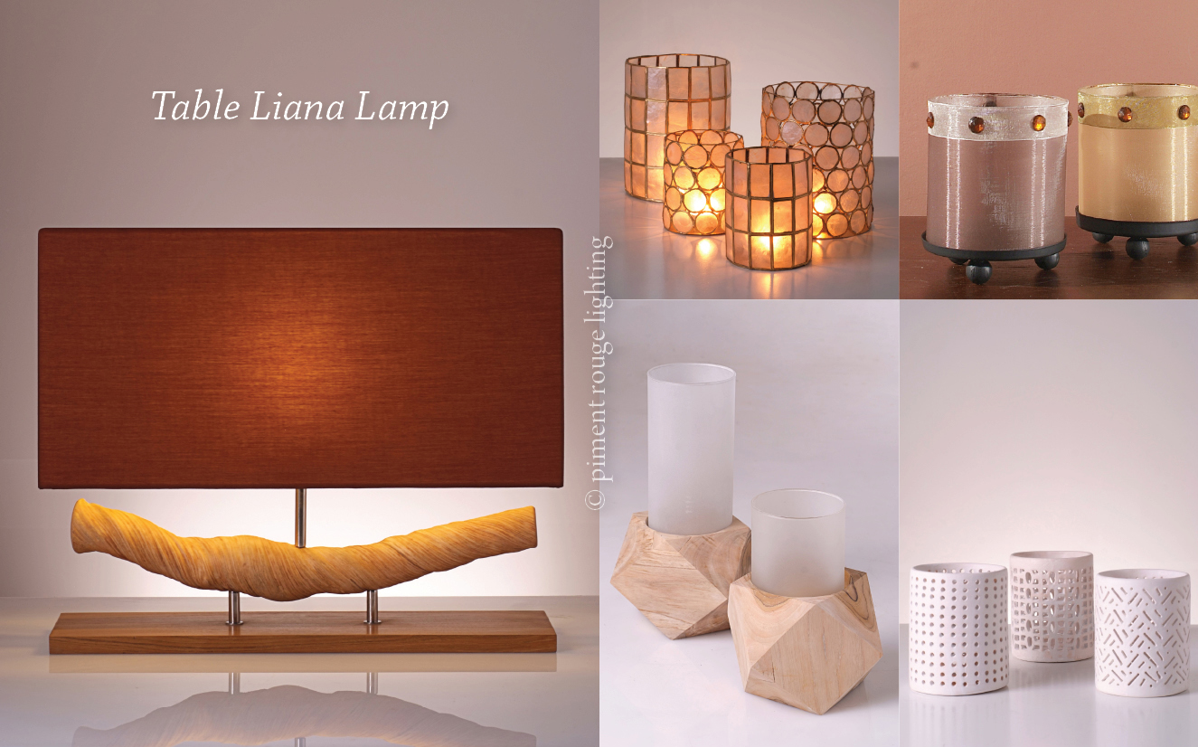 table liana lamp by piment rouge lighting and candleholders for deepavali festival of light