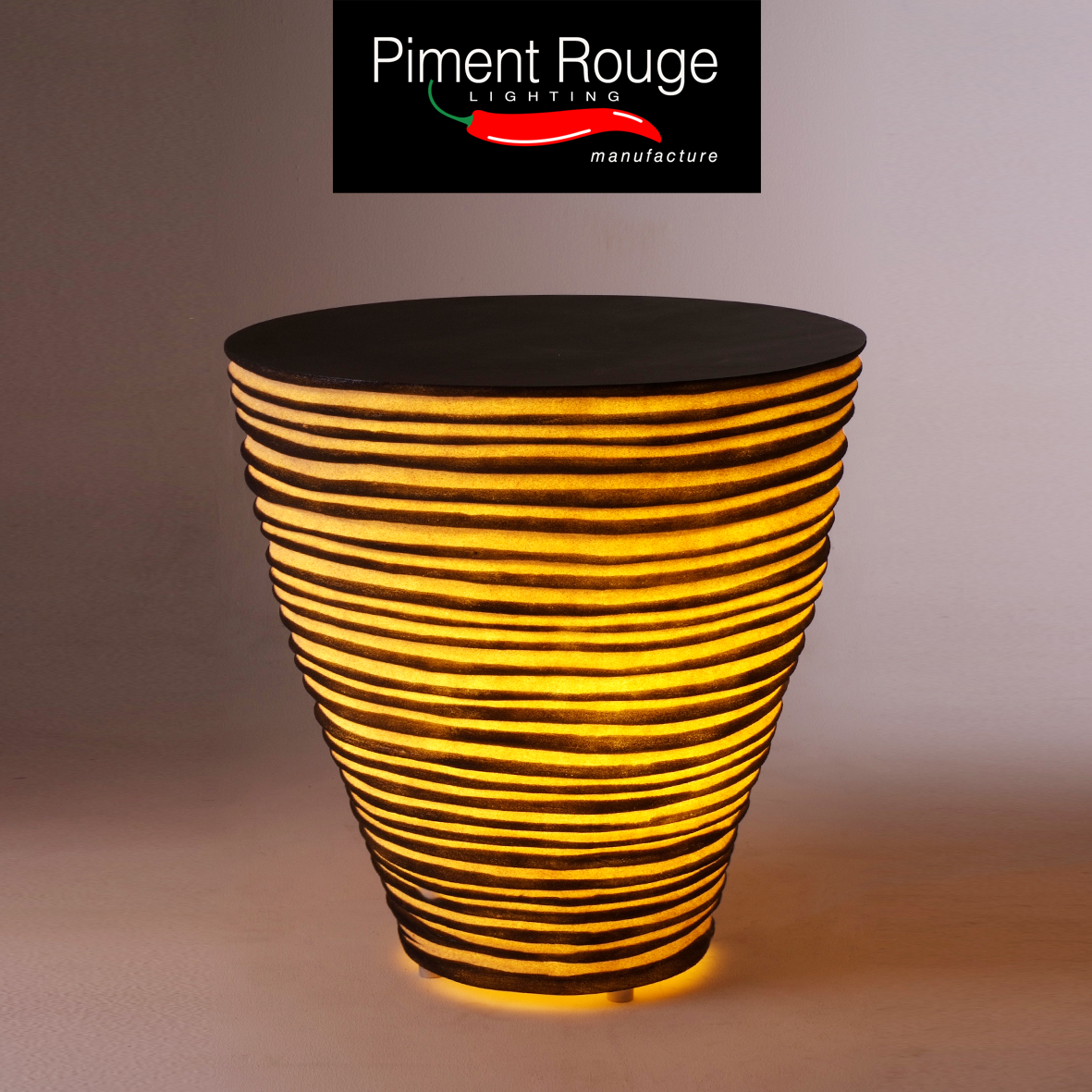 resin lamp-table xl by piment rouge outdoor lighting collection