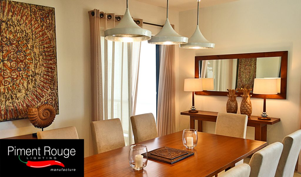 interior lighting tips of creating an illusion ofspace in the dining room with piment rouge lighting