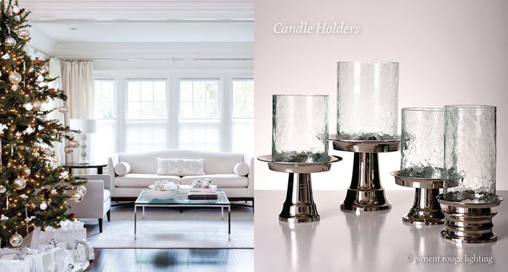 nickel-plated brass candleholders by piment rouge lighting bali for christmas selection