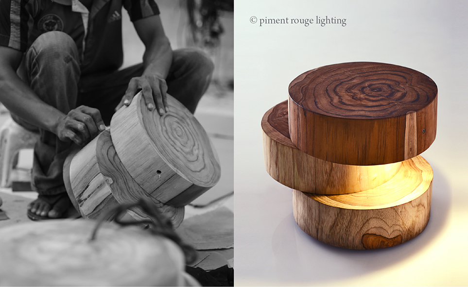 wooden jetty lamps by piment rouge lighting bali
