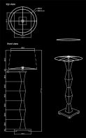 junior floor lamp technical drawing by piment rouge lighting