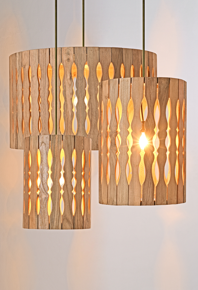 Piment Rouge Lighting Bali - Teakwood Pendants