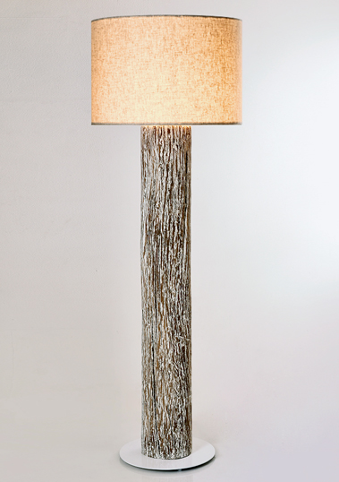 Wood Trunk Floor Lamp by Piment Rouge Lighting Bali