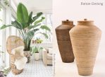 fresh tropical vibe with rattan urn home decor interior styling by piment rouge lighting bali