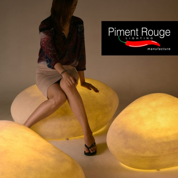 outdoor lighting galet seater XL and XXL by piment rouge lighting bali