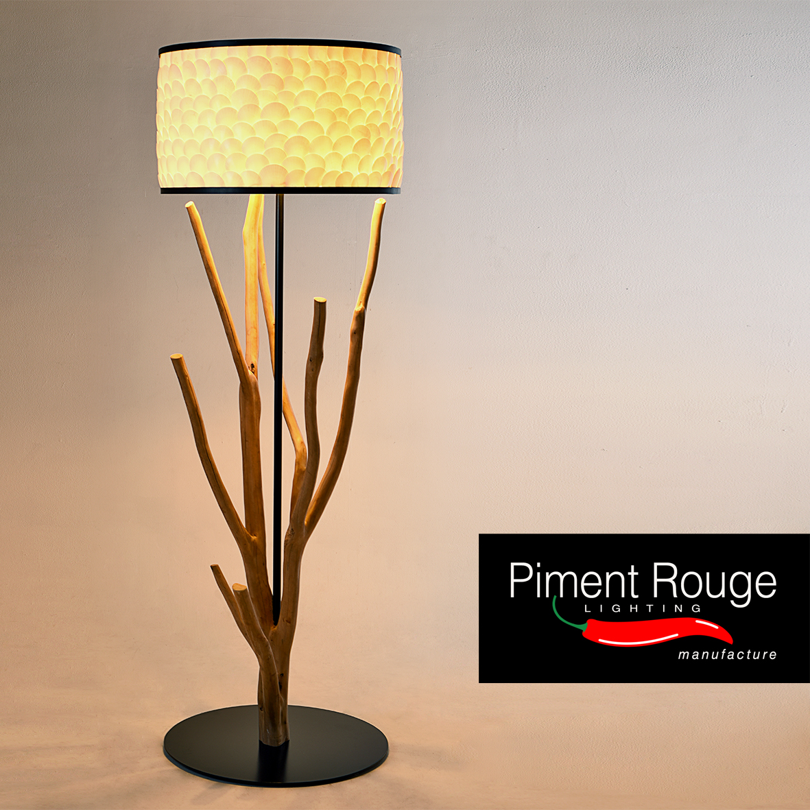 tree branch floor lamp by piment rouge lighting bali