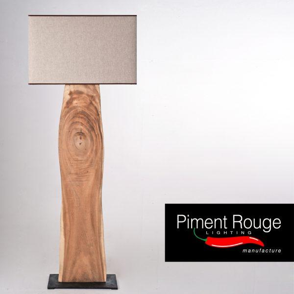 silvano wood slab floor lamp wood slab lamp stand by piment rouge lighting bali