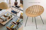 lina bo bardi rattan retro bowl chair bali by piment rouge lighting furniture bali indonesia
