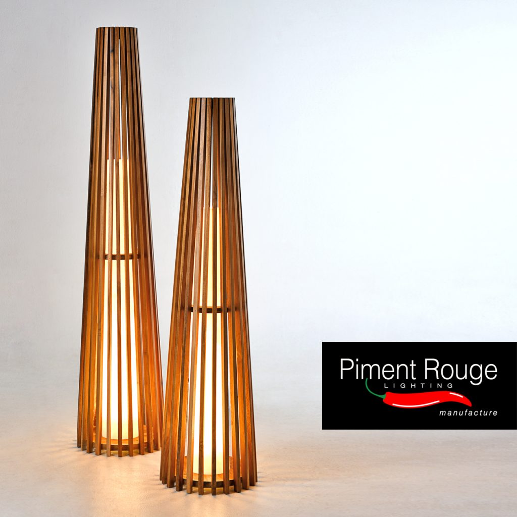 costello floor lamps conical shape teakwood lamp by piment rouge lighting bali