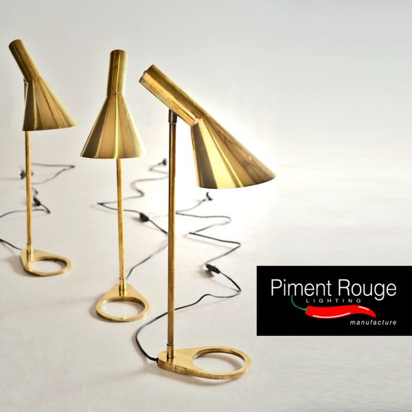 Retro brass desk lamps - Nelson Desk Lamp in Natural Brass by Piment Rouge Lighting Bali