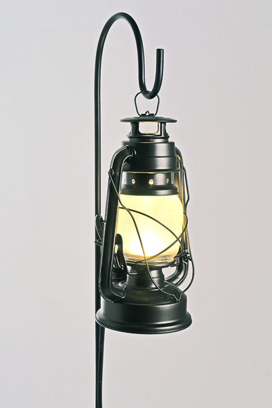 Black Standing Storm Lantern by Piment Rouge Lighting Bali