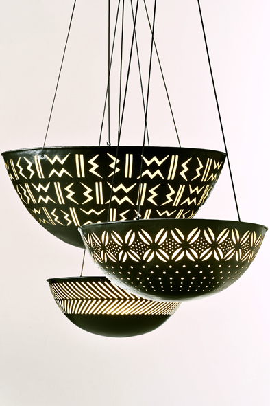 Calabash Pendants by Piment Rouge Lighting Bali