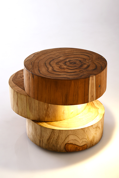 Jetty Log Lamp by Piment Rouge Lighting Bali