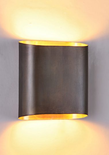 Oval Brass Wall Sconce by Piment Rouge Lighting Bali