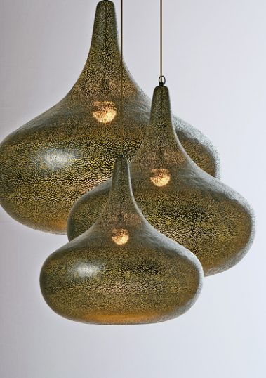 Perforated Pendants by Piment Rouge Lighting Bali