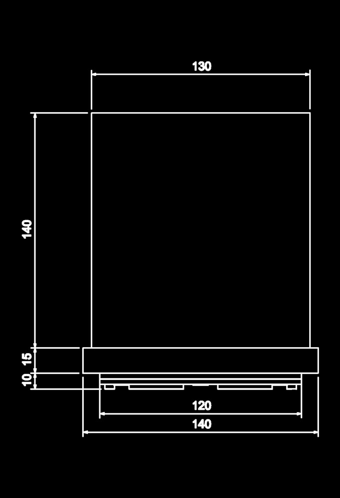 Piment Rouge Lighting Bali - Aura Table Lamp Technical Drawing