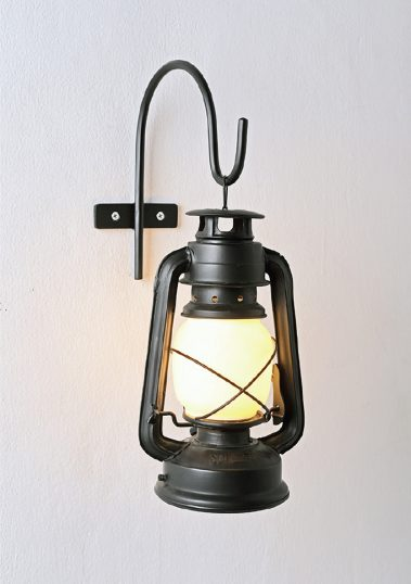 Piment Rouge Lighting Bali - Black Wall-mounted Storm Lantern
