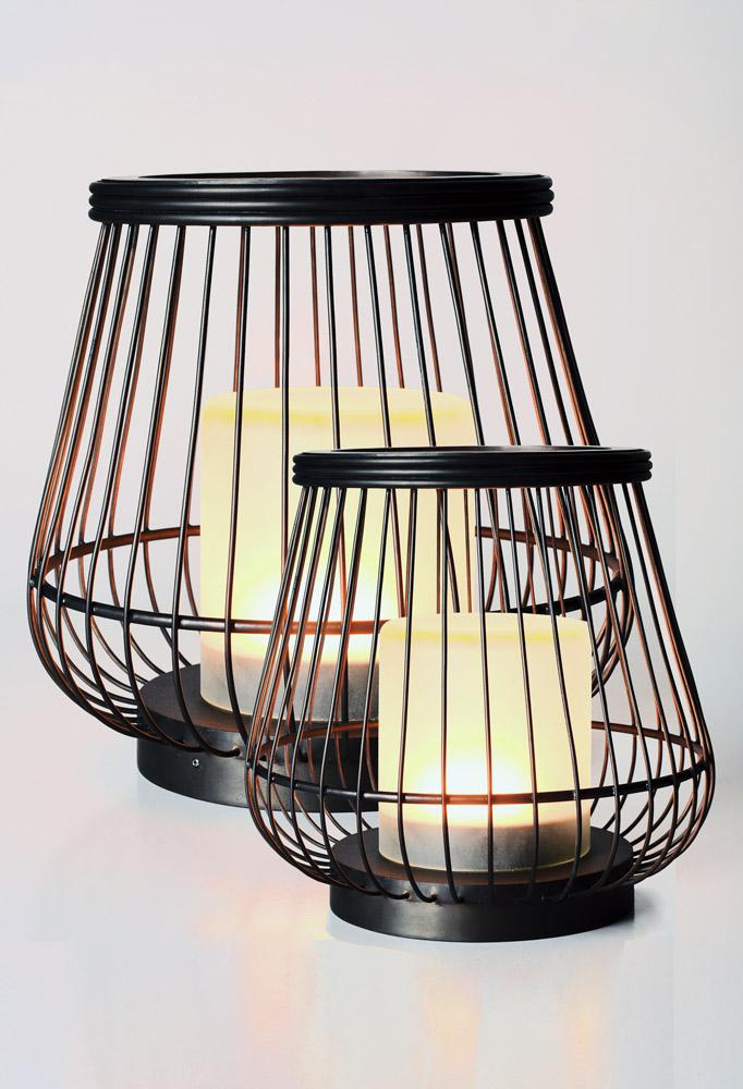 Piment Rouge Lighting Bali - Brass Basket Lamps