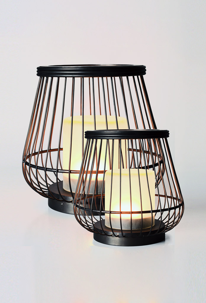 Piment Rouge Lighting Bali - Brass Basket Lamps - 2