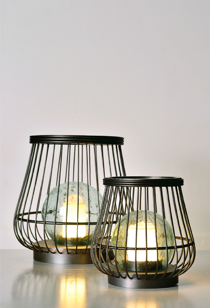 Piment Rouge Lighting Bali - Brass Basket Lamps
