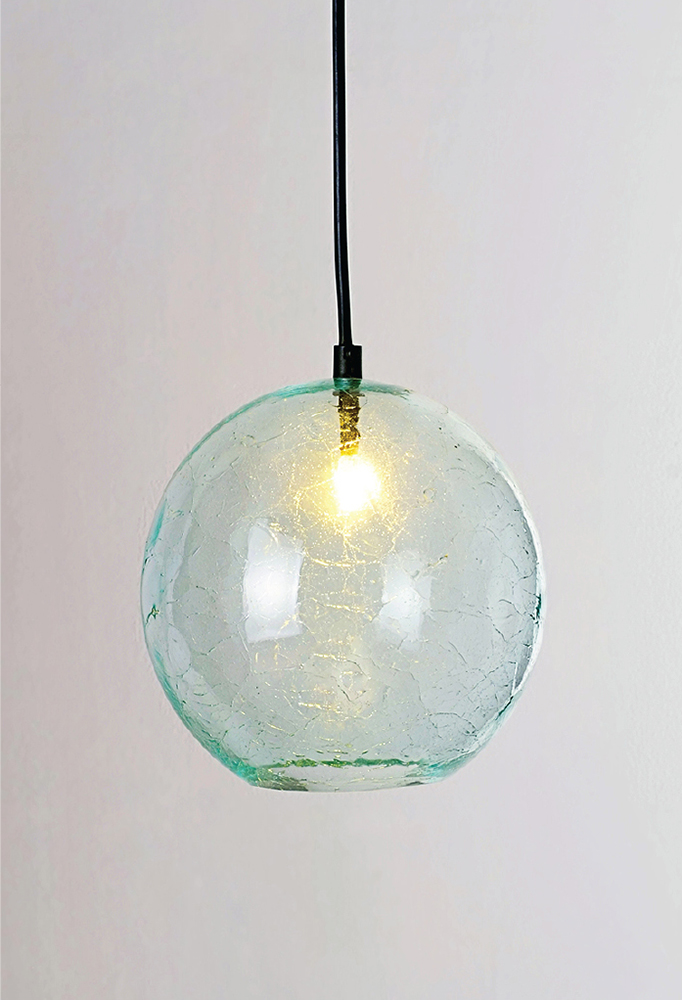 Piment Rouge Lighting Bali - Glass Ball Pendant