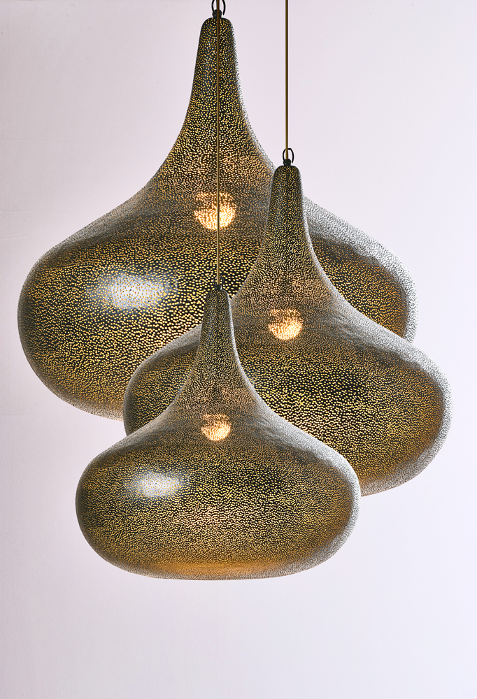 Piment Rouge Lighting Bali - Perforated Pendants