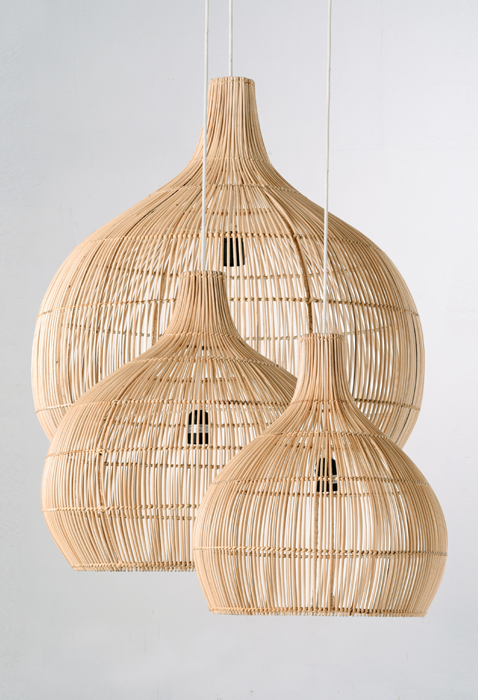 Piment Rouge Lighting Bali - Rattan Drop Pendants