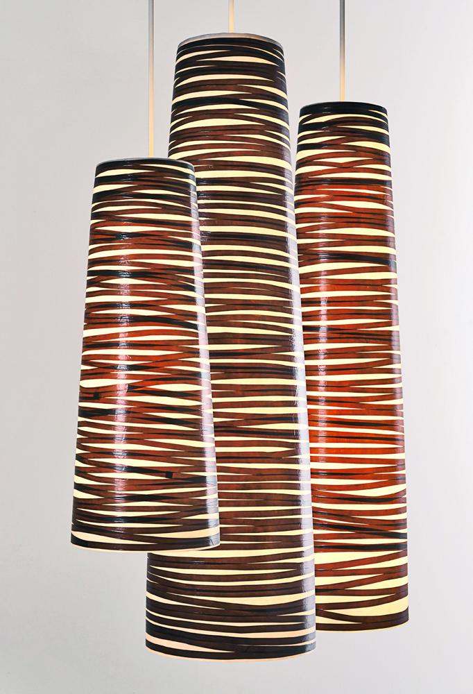 Piment Rouge Lighting Bali - Spiral Pendants