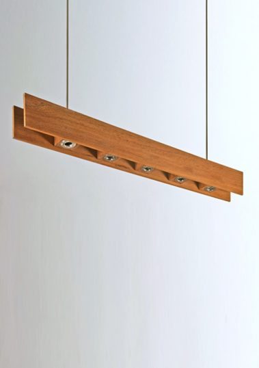 Piment Rouge Lighting Bali - Wooden Bar Pendant