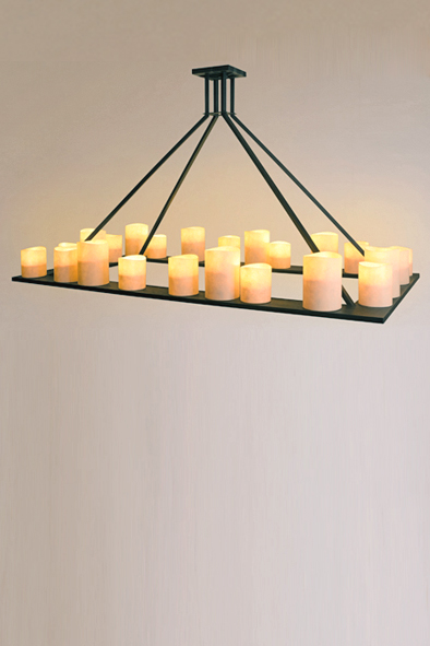 Rectangular Wine Cellar Pendant by Piment Rouge Lighting Bali