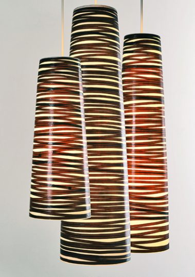 Spiral Pendants by Piment Rouge Lighting Bali