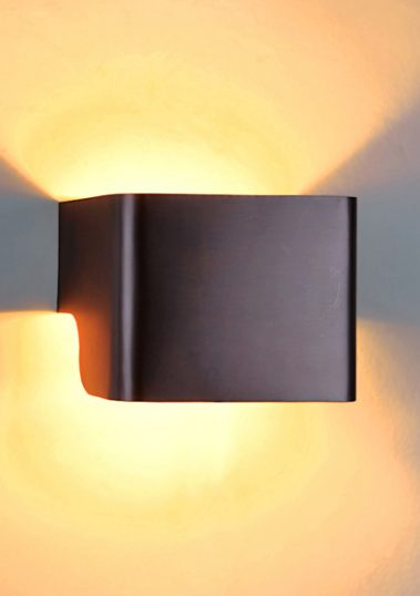 Squared Brass Wall Sconce by Piment Rouge Lighting Bali