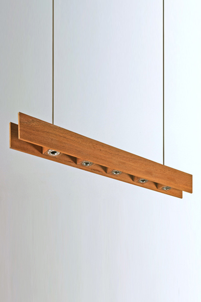 Wooden Bar Pendant by Piment Rouge Lighting Bali