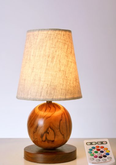 Wooden Feast Table Lamp by Piment Rouge Lighting Bali