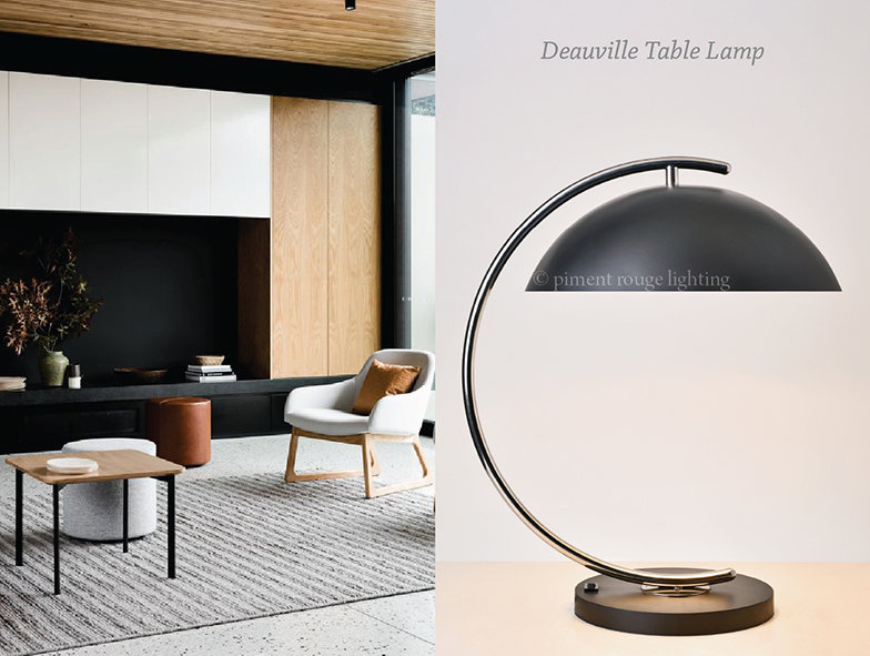 Stainless Deauville Table Lamp for a Modern Retro Interior