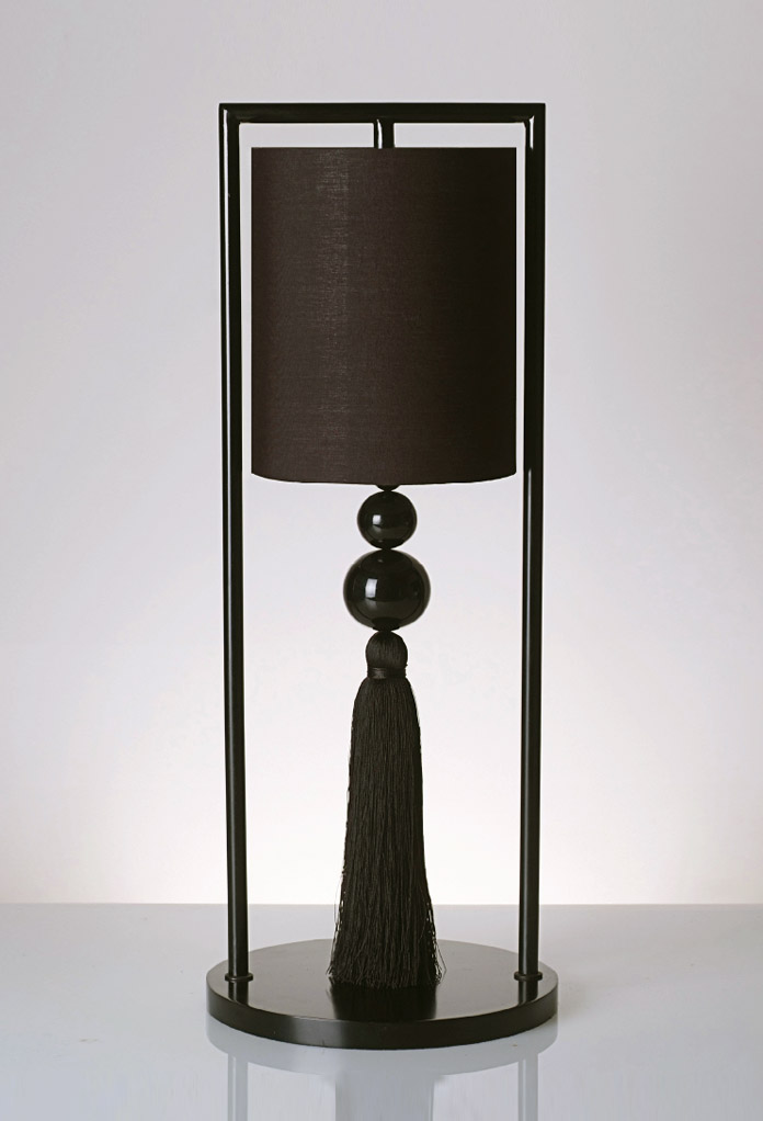 Piment Rouge Lighting Bali - All Black Chester Table Lamp