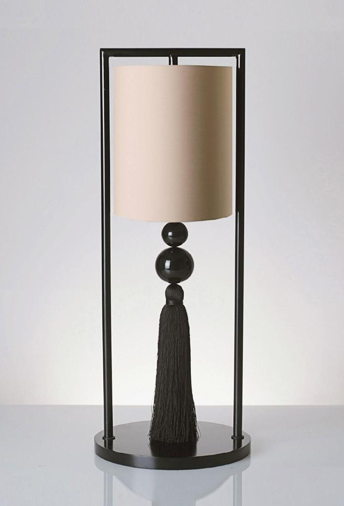 Piment Rouge Lighting Bali - Black-Metis Chester Table Lamp