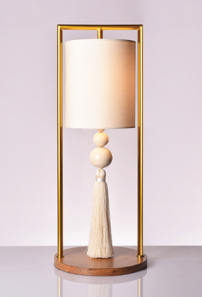 Piment Rouge Lighting Bali - Gold Chester Table Lamp