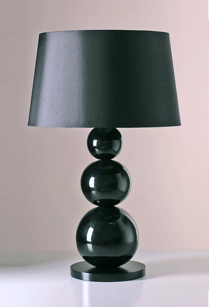 Piment Rouge Lighting Bali - Large Black Carioca Table Lamp