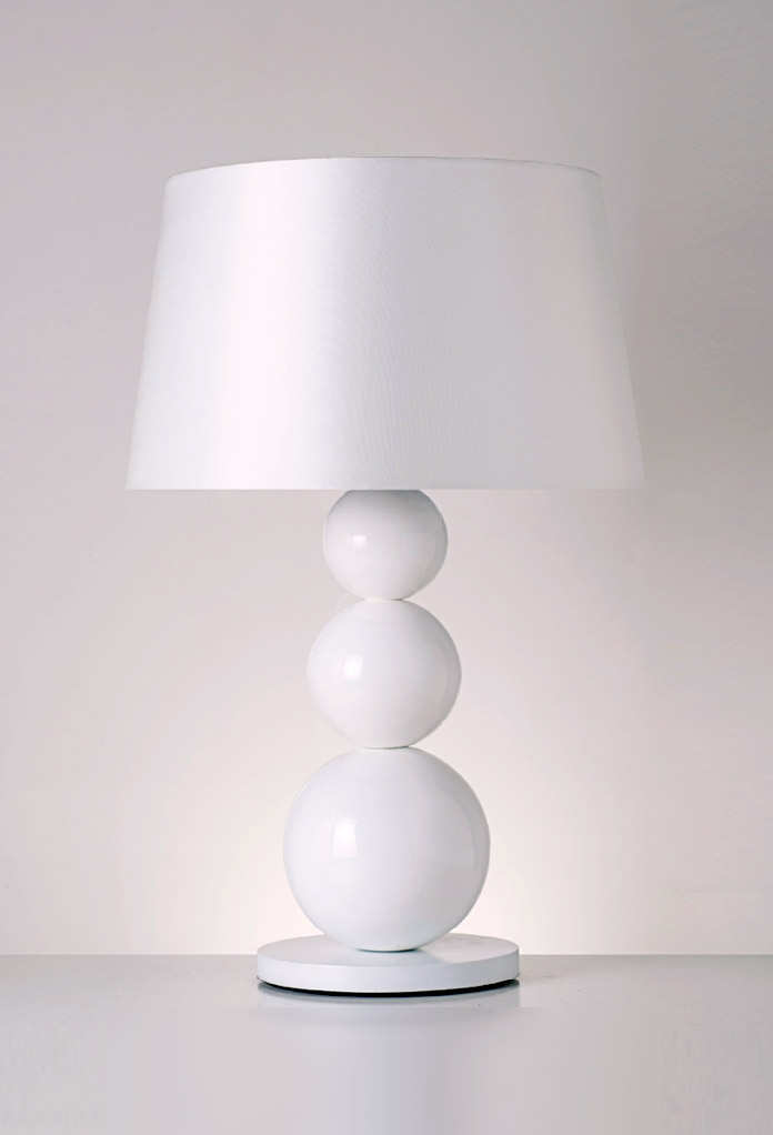 Piment Rouge Lighting Bali - Large White Carioca Table Lamp
