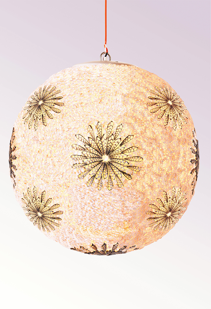 Piment Rouge Lighting Bali - Shell Flower Ball Pendant