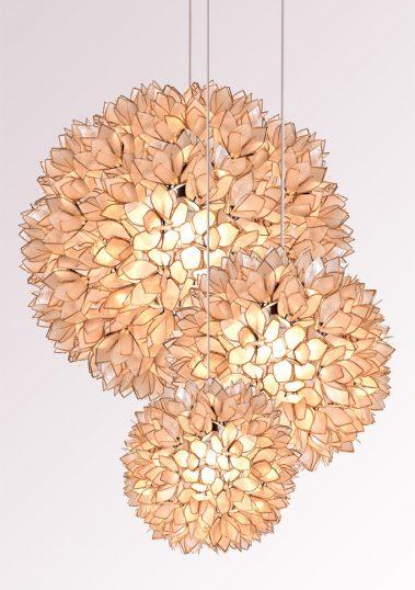 Piment Rouge Lighting Bali - Shell Petal Balls